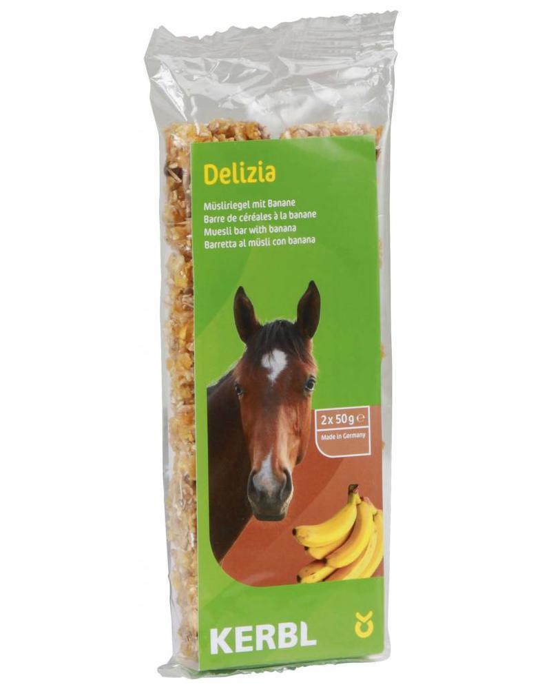 Delizia Müsliriegel für Pferde Banane,  2x50g
