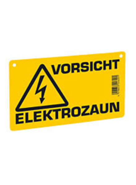 Euroguard Warnschild – Vorsicht Elektrozaun!