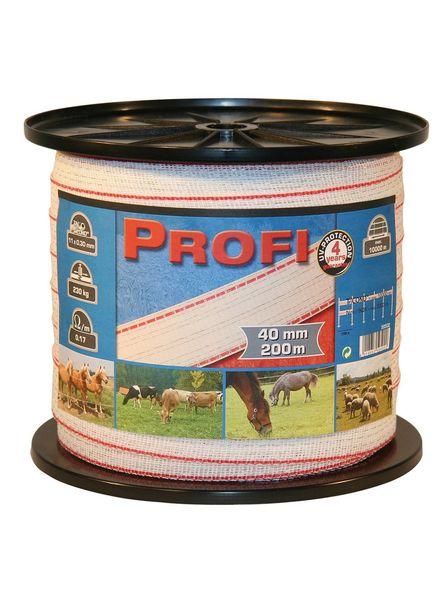 Euroguard PROFI Weidezaunbänder 40mm, 11x0,30 TriC, 200m, w/r