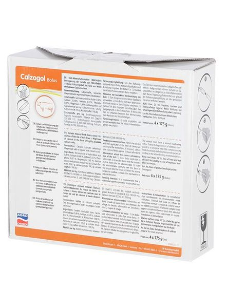 Calzogol Bolus 175 g 4 Stück Packung
