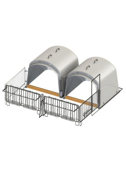 CalfHouse Premium XL mit Umzäunung; Doppelset