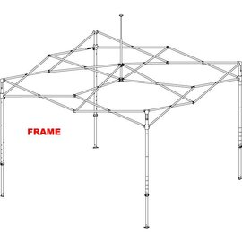 Alu frame square 40mm - 4,5x3M