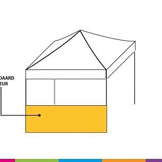 Side wall helf height - 4,5M standard colour