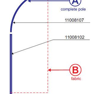 Pole: Flag straight 210-65 - aluminium