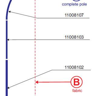 Pole: Flag straight 320-65 - Aluminium