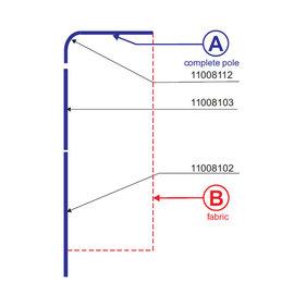 Pole: Flag square 270-85 - Aluminium