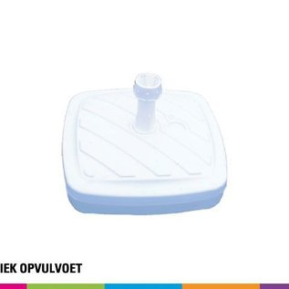Plastic base fillable with water