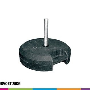 Rubber base 25KG (with pole support)