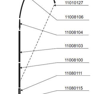 Pole: Flag Drop 460cm - fiber