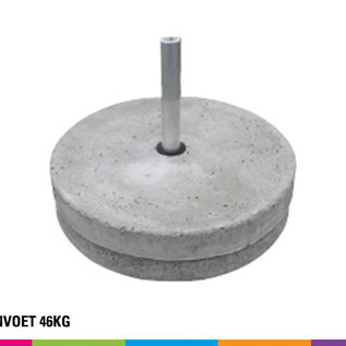 Concrete base 46KG (with pole support)