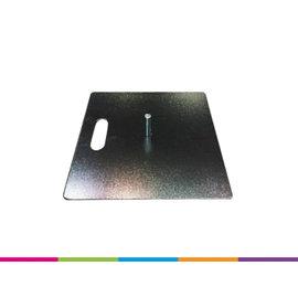 Metal plate 40x40cm - 6KG + pin