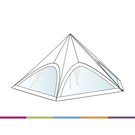Sidewall ST40 - Velcro - Panorama - White