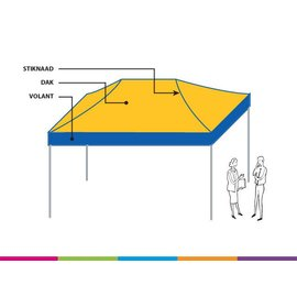 Cover 4,5X3M standard colour combination
