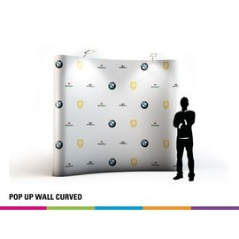 Pop up wall curved 3x3