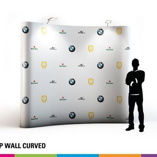 Pop up wall curved 5x3 341x224cm