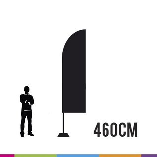 Flag straight 460-85 + pole