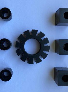 APH 6408-04A Rubbers RW motor set zwart