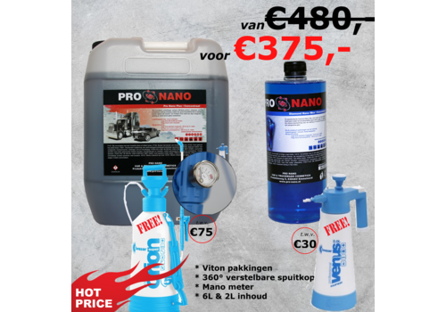 20L ProNano Plus & 1L Diamond Nano Wax + GRATIS Lage Druk Set