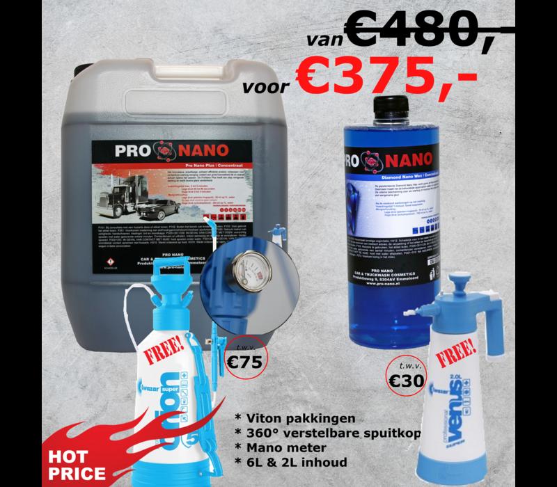 20L ProNano Plus & 1L Diamond Nano Wax + GRATIS Lage Druk Set