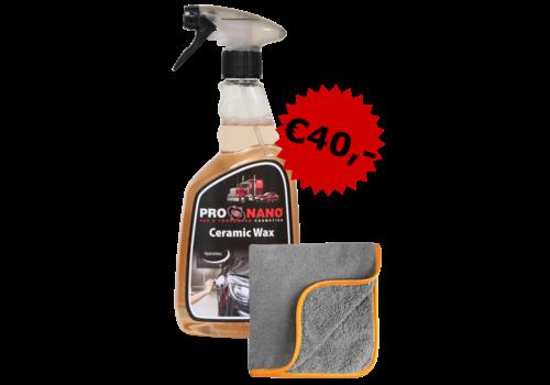 Ceramic Wax + Microfiber Cloth