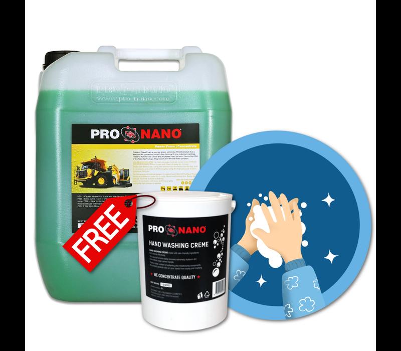 20L ProNano Power Foam + KOSTENLOS 2,5L Hand Wash Creme