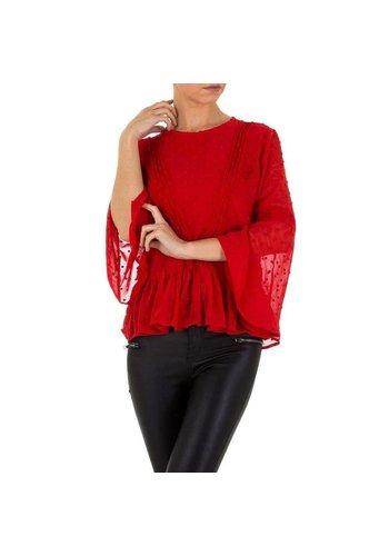 D5 Avenue Damen Bluse von Emmash - red