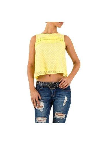 D5 Avenue Damen Bluse von Cutie - yellow