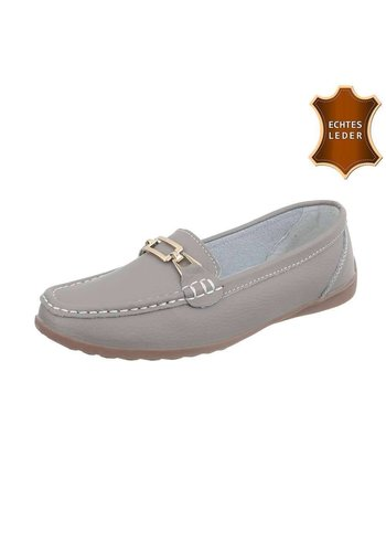 D5 Avenue Leder Damen Mokassins - grey