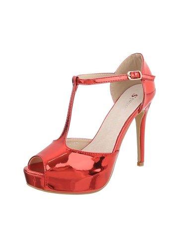 D5 Avenue Damen High Heels Pumps - red