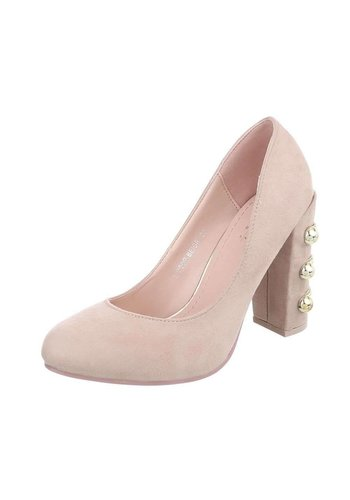 Damen High Heels Pumps - beige