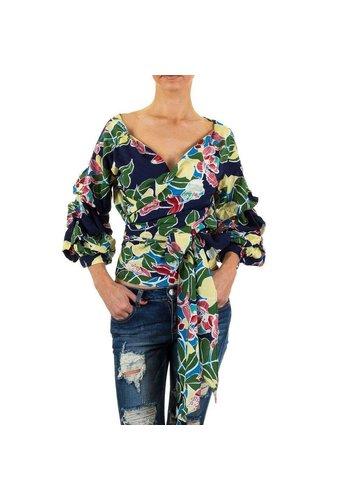D5 Avenue Damen Bluse von Shk Mode - DK.blue