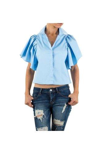 D5 Avenue Damen Bluse von Shk Mode - blue
