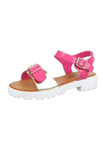 D5 Avenue Damen Sandaletten - fuchsiagold