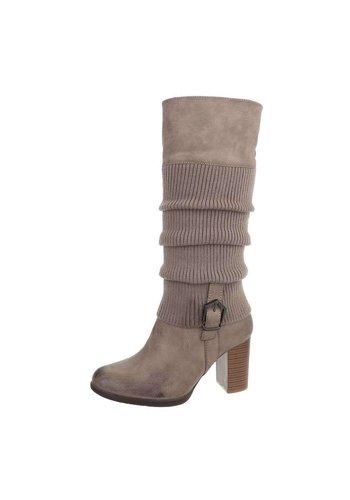 D5 Avenue Damen High-Heel Stiefel - khaki