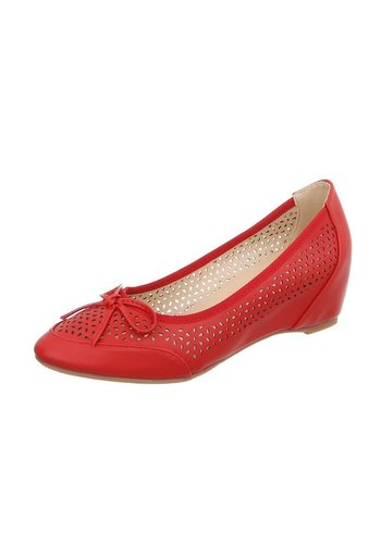 D5 Avenue Damen Keilpumps - red