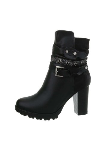 D5 Avenue Damen High-Heel Stiefeletten - black