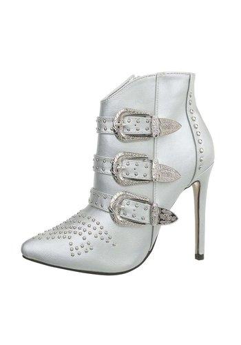 D5 Avenue Damen High-Heel Stiefeletten - silber