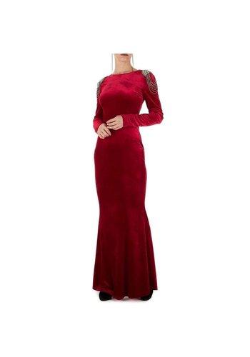 D5 Avenue Damen Kleid - weinrot