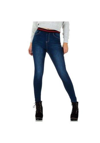 MOZZAAR Damen Jeans - blau
