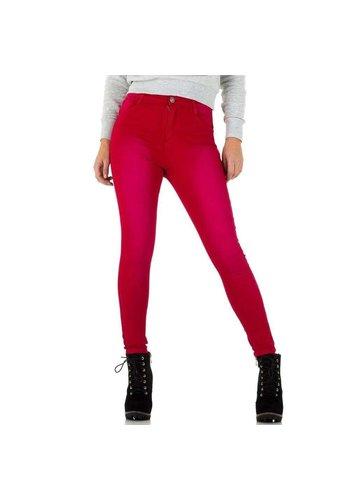 MOZZAAR Damen Jeans - rot