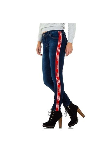 MOZZAAR Damen Jeans - blue