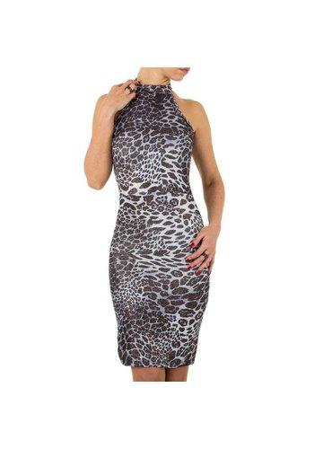 D5 Avenue Damen Kleid von Voyelles - grau
