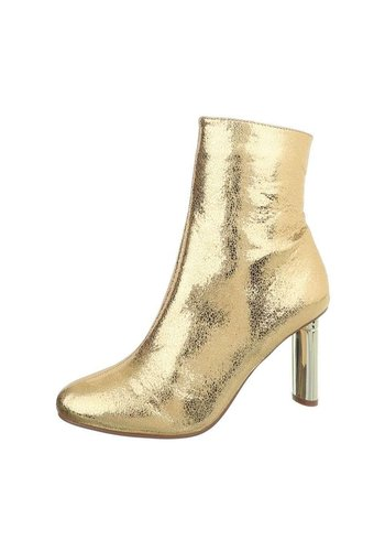 D5 Avenue Damen High Heel Stiefeletten - gold