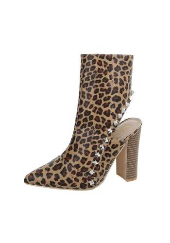 D5 Avenue Damenstiefel mit Blockabsatz - Leopard