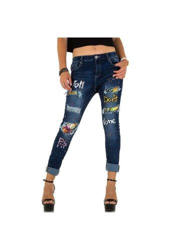 MOZZAAR Damen Jeans von Mozzaar - blau