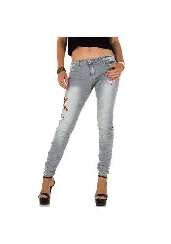 D5 Avenue Damen Jeans von Place Du Jour - grau