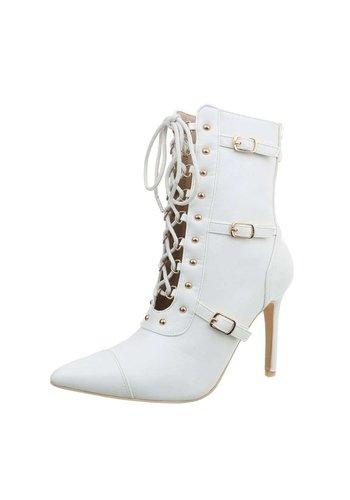 D5 Avenue Damen High Heel Stiefeletten - white