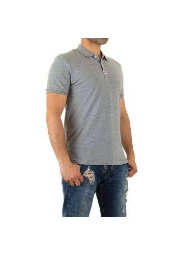 D5 Avenue Herren Poloshirt von Y.Two Jeans - grau
