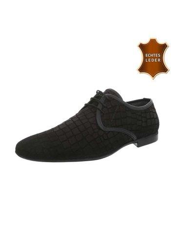 D5 Avenue Leder Herren Businessschuhe - black