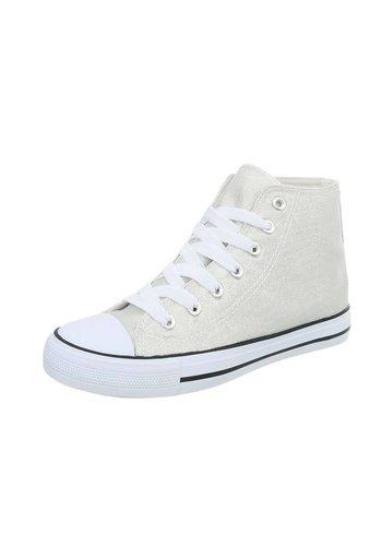 D5 Avenue Damen Sneakers hochsilber
